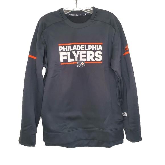 Adidas Mens D77061 NHL Philadelphia Flyers Crew Sw